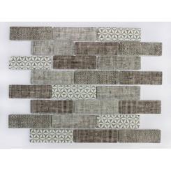 Mozaika brown | rozměr:  26,4 x 30 cm | kód: MOSV98TBR