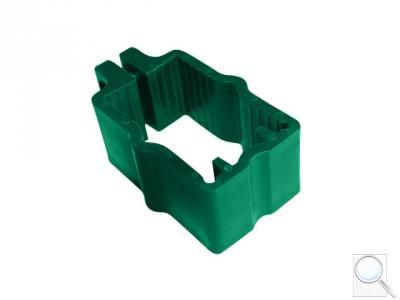 Objímka PVC na sloupky 60 × 40 mm pro panely PILOFOR® - zelená