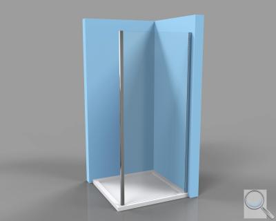 Boční zástěna kesprchovým dveřím Siko TEX