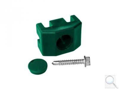 Příchytka PVC na sloupek 60 × 40 mm pro panely PILOFOR® včetně šroubu, zelená