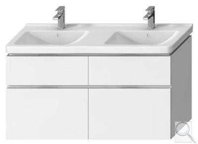 Koupelnová skříňka pod umyvadlo Jika Cubito 128x46,7x68,3 cm bílá obr. 1