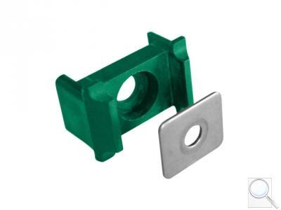 Příchytka panelu PILOFOR® osazení, kovový přítlak, 60 × 40 mm, PVC - zelená