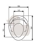 WC sedátko dětské (Technický nákres)