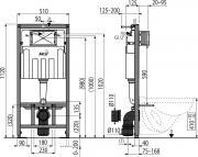 Nádržka do lehké stěny k WC Alcaplast AM101/1120 (obr. 2)