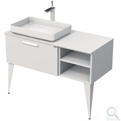 Koupelnová skříňka podumyvadlo Luxe bílá mat, levé provedení