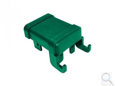 ČEPIČKA PVC PRO SLOUPEK PILODEL® 60 × 40 mm s háčky na čele, zelená