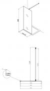 Pevná stěna Siko Walk-in Walk-in (Technický nákres (ilustrační))