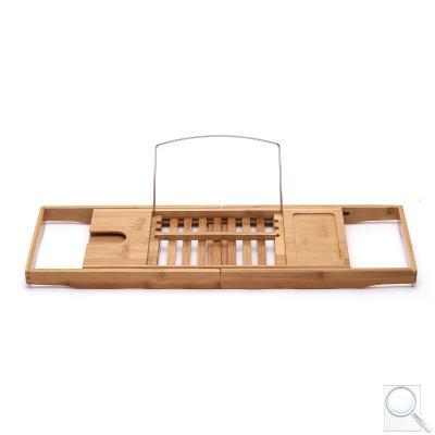 Vanová polička Optima bambusová, posuvná 70-105 cm, POLICEVANBA