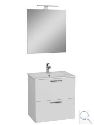 Koupelnová skříňka Mia set bílá lesk, 59 x 61 x 39,5 cm