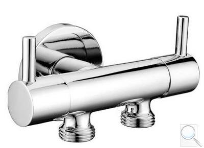 Dvojventil SAT pro napojení bidetové spršky a WC, chrom 1209-04-B obr. 1