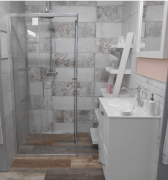 Sprchový kout TEX čtverec (SIKOTEXQ100CRT-026-tex)