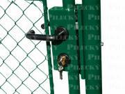 Branka IDEAL se zámkem a vložkou (branka-ideal-detail-zamek-zn-pvc-zelena)