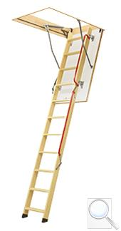 LWL LUX zateplené skládací schody s dřevěným žebříkem