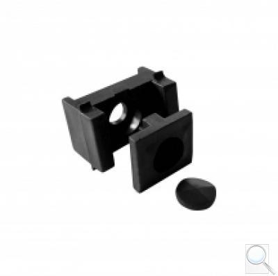 Příchytka pro PILOFOR® – PRO na sloupek 60 × 40 mm, PVC - černá
