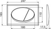 Ovládací tlačítko Alcaplast plast chrom mat M72 (obr. 2)