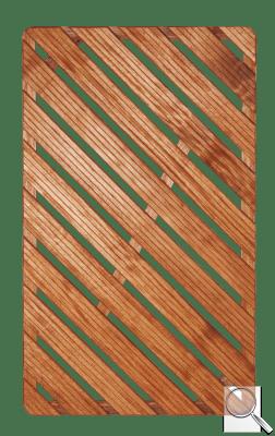 Sprchová rohož Aris dřevo OBDÉLNÍK