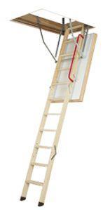 Termoizolační skládací schody s dřevěným žebříkem