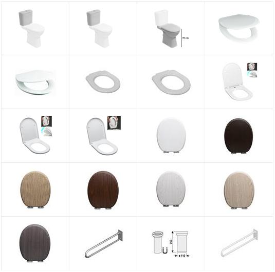 Stojící WC mísa kombi